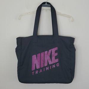 Nike Black & Fushia Large Tote Bag